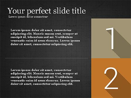 Presentation with Flat Design Numbers, Slide 10, 03970, Presentation Templates — PoweredTemplate.com
