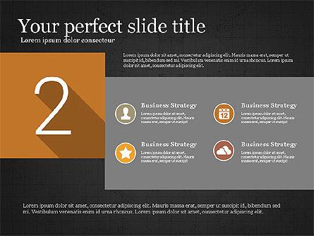 Presentation with Flat Design Numbers, Slide 11, 03970, Presentation Templates — PoweredTemplate.com