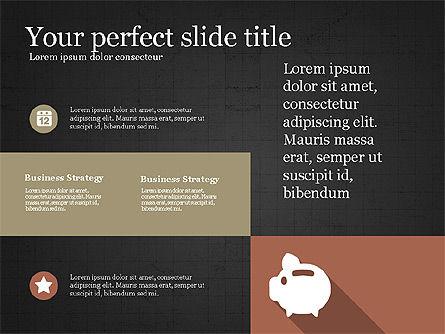 Presentation with Flat Design Numbers, Slide 12, 03970, Presentation Templates — PoweredTemplate.com