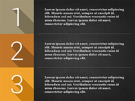Presentation with Flat Design Numbers, Slide 13, 03970, Presentation Templates — PoweredTemplate.com
