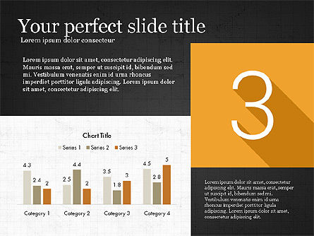 Presentation with Flat Design Numbers, Slide 14, 03970, Presentation Templates — PoweredTemplate.com