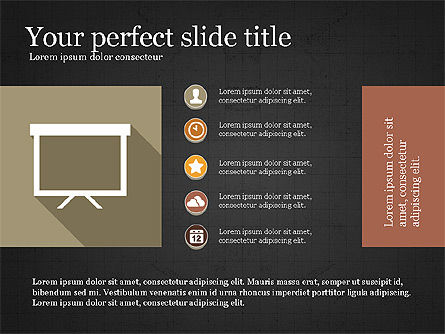 Presentation with Flat Design Numbers, Slide 15, 03970, Presentation Templates — PoweredTemplate.com