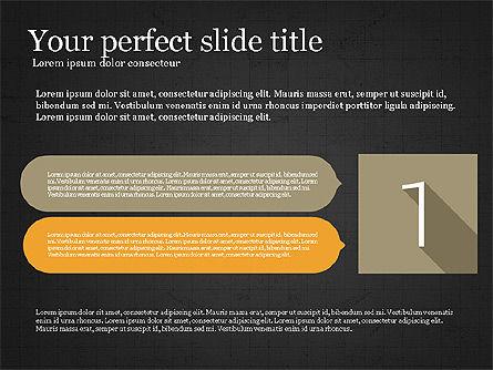 Presentation with Flat Design Numbers, Slide 16, 03970, Presentation Templates — PoweredTemplate.com