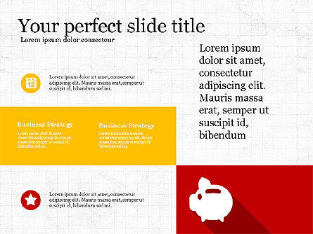 Presentation with Flat Design Numbers, Slide 4, 03970, Presentation Templates — PoweredTemplate.com