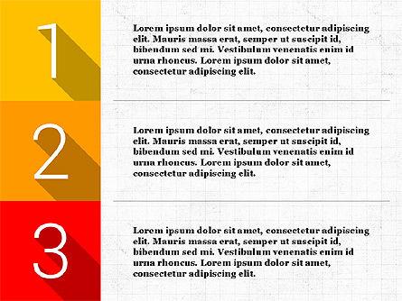 Presentation with Flat Design Numbers, Slide 5, 03970, Presentation Templates — PoweredTemplate.com