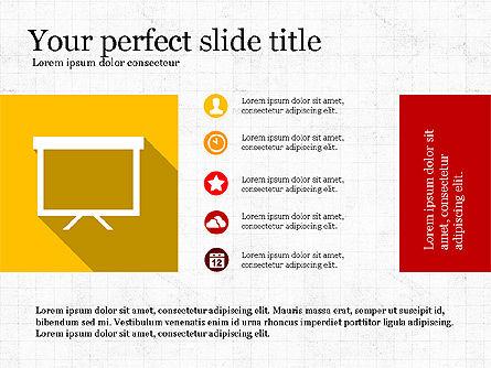 Presentation with Flat Design Numbers, Slide 7, 03970, Presentation Templates — PoweredTemplate.com