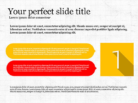 Presentation with Flat Design Numbers, Slide 8, 03970, Presentation Templates — PoweredTemplate.com