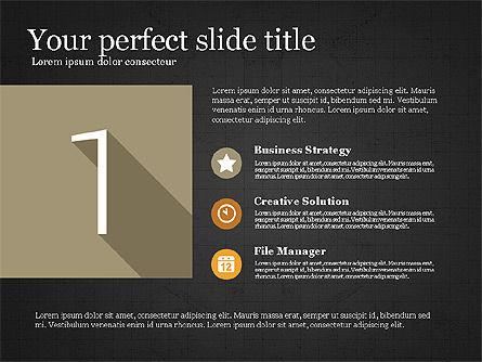 Presentation with Flat Design Numbers, Slide 9, 03970, Presentation Templates — PoweredTemplate.com