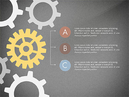 Gears Theme Presentation Concept, Slide 11, 03971, Presentation Templates — PoweredTemplate.com