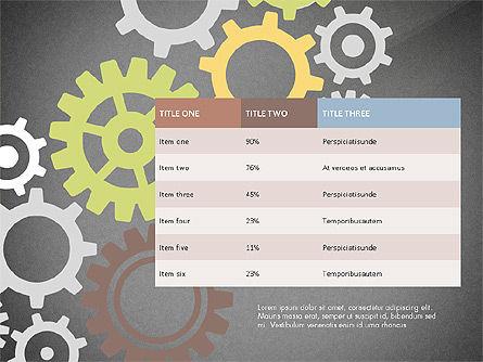 Gears Theme Presentation Concept, Slide 12, 03971, Presentation Templates — PoweredTemplate.com