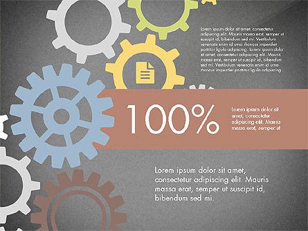Gears Theme Presentation Concept, Slide 14, 03971, Presentation Templates — PoweredTemplate.com
