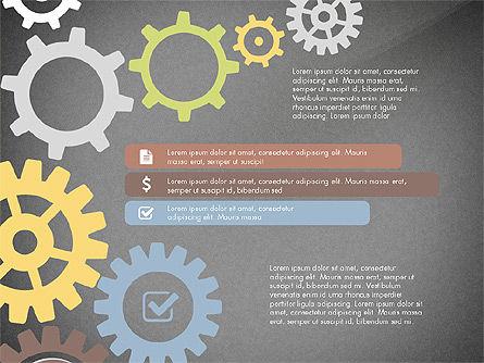 Gears Theme Presentation Concept, Slide 15, 03971, Presentation Templates — PoweredTemplate.com