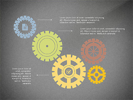 Gears Theme Presentation Concept, Slide 16, 03971, Presentation Templates — PoweredTemplate.com
