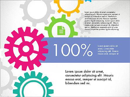 Gears Theme Presentation Concept, Slide 6, 03971, Presentation Templates — PoweredTemplate.com