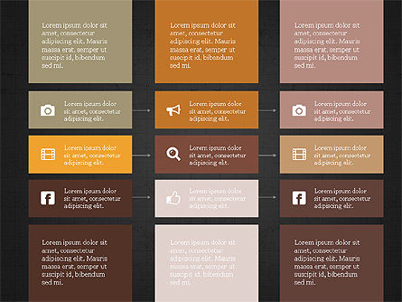 Grid Process Slide Deck, Slide 15, 03972, Process Diagrams — PoweredTemplate.com