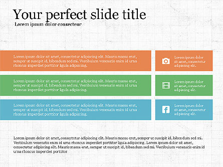 Grid Process Slide Deck, Slide 6, 03972, Process Diagrams — PoweredTemplate.com