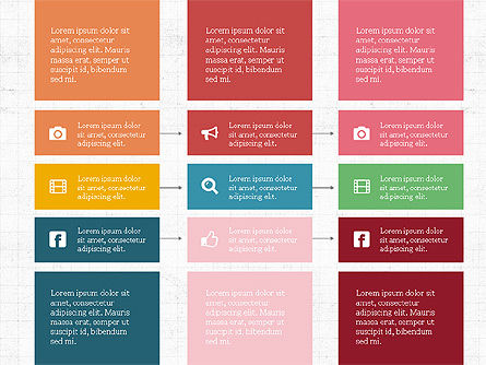 Grid Process Slide Deck, Slide 7, 03972, Process Diagrams — PoweredTemplate.com