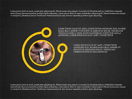 Shapes and Photos Presentation Deck, Slide 14, 03973, Shapes — PoweredTemplate.com