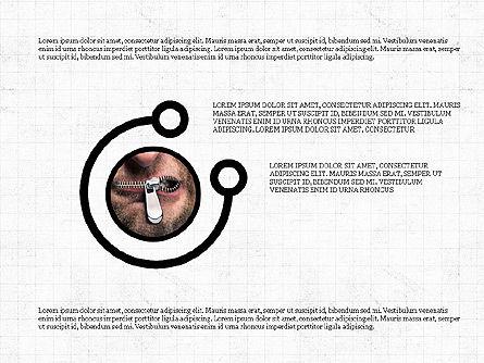 Shapes and Photos Presentation Deck, Slide 6, 03973, Shapes — PoweredTemplate.com