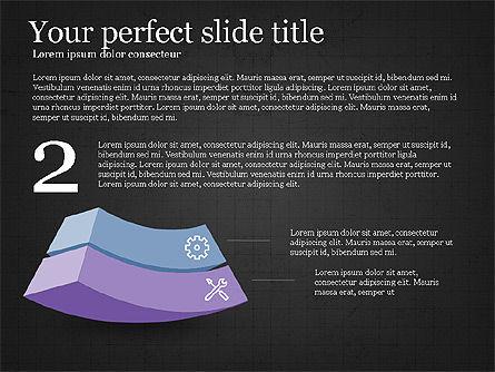 Five Steps Pyramid Slide Deck, Slide 11, 03976, Stage Diagrams — PoweredTemplate.com