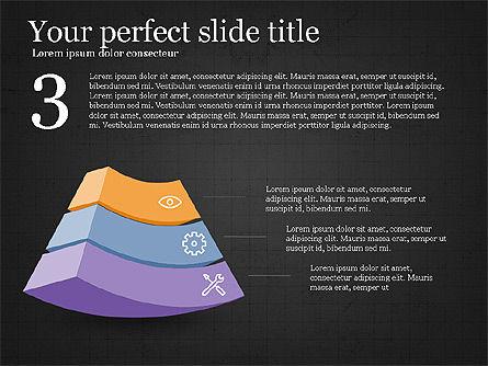 Five Steps Pyramid Slide Deck, Slide 12, 03976, Stage Diagrams — PoweredTemplate.com