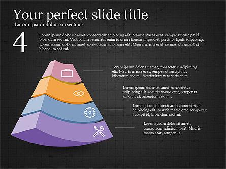 Five Steps Pyramid Slide Deck, Slide 13, 03976, Stage Diagrams — PoweredTemplate.com