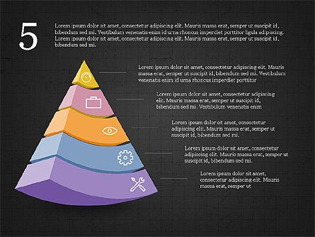 Five Steps Pyramid Slide Deck, Slide 14, 03976, Stage Diagrams — PoweredTemplate.com