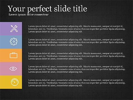 Five Steps Pyramid Slide Deck, Slide 15, 03976, Stage Diagrams — PoweredTemplate.com