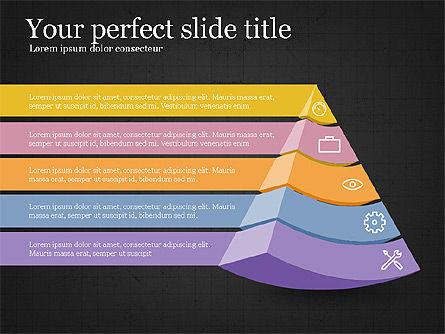 Five Steps Pyramid Slide Deck, Slide 16, 03976, Stage Diagrams — PoweredTemplate.com