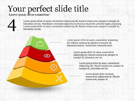 Five Steps Pyramid Slide Deck, Slide 5, 03976, Stage Diagrams — PoweredTemplate.com