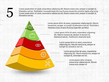 Five Steps Pyramid Slide Deck, Slide 6, 03976, Stage Diagrams — PoweredTemplate.com