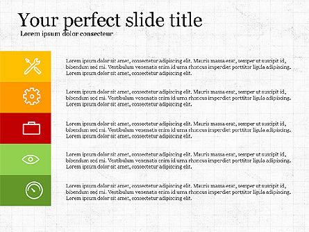 Five Steps Pyramid Slide Deck, Slide 7, 03976, Stage Diagrams — PoweredTemplate.com
