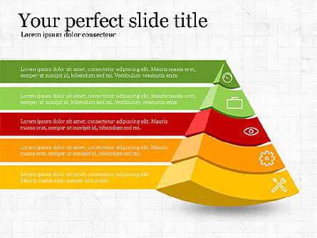 Five Steps Pyramid Slide Deck, Slide 8, 03976, Stage Diagrams — PoweredTemplate.com