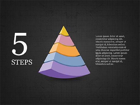 Five Steps Pyramid Slide Deck, Slide 9, 03976, Stage Diagrams — PoweredTemplate.com