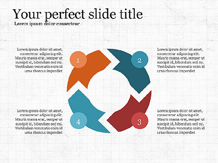 Process Arrows Slide Deck, Slide 6, 03977, Process Diagrams — PoweredTemplate.com
