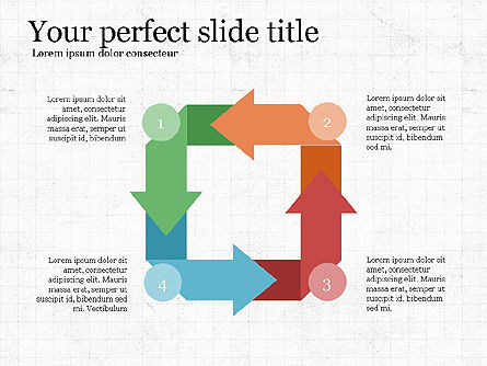 Process Arrows Slide Deck, Slide 8, 03977, Process Diagrams — PoweredTemplate.com