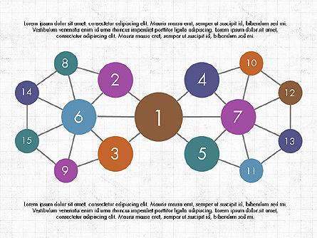 Node-Link Diagram Toolbox, Slide 2, 03980, Graph Charts — PoweredTemplate.com