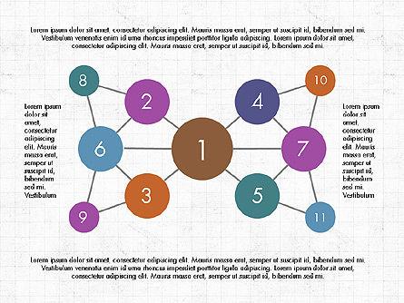 Node-Link Diagram Toolbox, Slide 3, 03980, Graph Charts — PoweredTemplate.com
