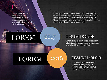 Year Summary Presentation Template, Slide 10, 03981, Presentation Templates — PoweredTemplate.com