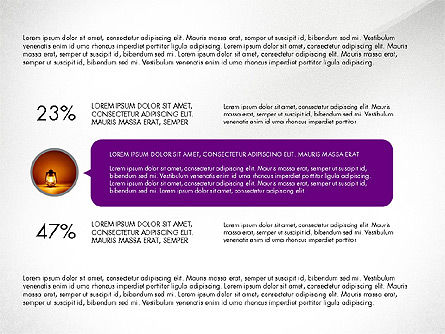Circles and Texts Presentation Concept, Slide 6, 03983, Presentation Templates — PoweredTemplate.com