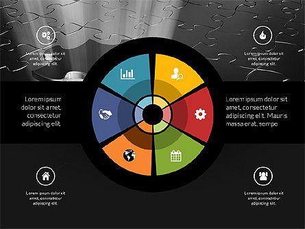 Centered Slide Deck, Slide 10, 03984, Icons — PoweredTemplate.com