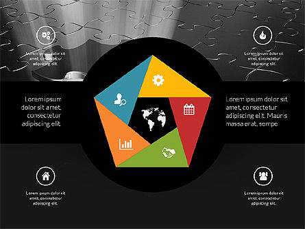 Centered Slide Deck, Slide 11, 03984, Icons — PoweredTemplate.com