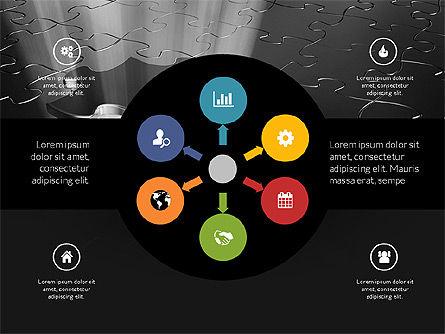 Centered Slide Deck, Slide 12, 03984, Icons — PoweredTemplate.com