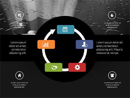 Centered Slide Deck, Slide 13, 03984, Icons — PoweredTemplate.com