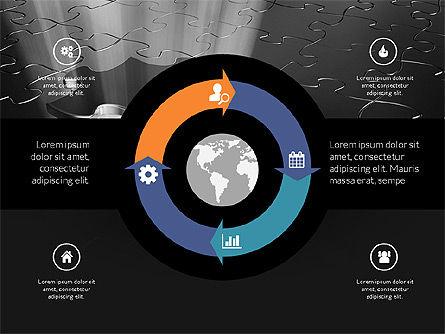 Centered Slide Deck, Slide 14, 03984, Icons — PoweredTemplate.com