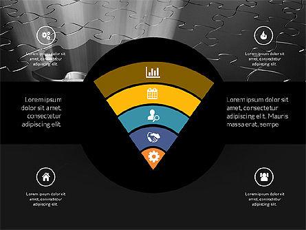 Centered Slide Deck, Slide 15, 03984, Icons — PoweredTemplate.com