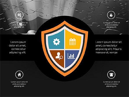 Centered Slide Deck, Slide 16, 03984, Icons — PoweredTemplate.com