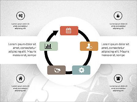 Centered Slide Deck, Slide 5, 03984, Icons — PoweredTemplate.com