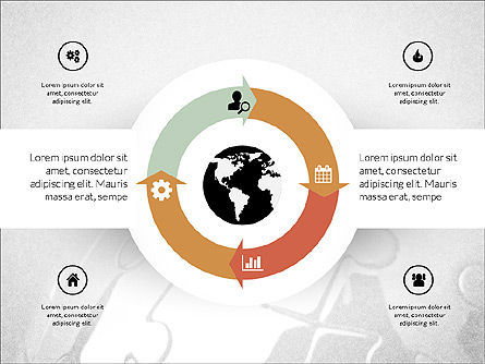 Centered Slide Deck, Slide 6, 03984, Icons — PoweredTemplate.com