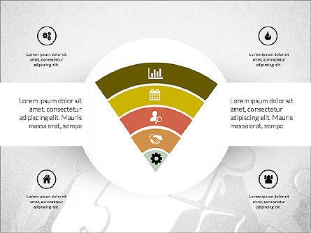Centered Slide Deck, Slide 7, 03984, Icons — PoweredTemplate.com